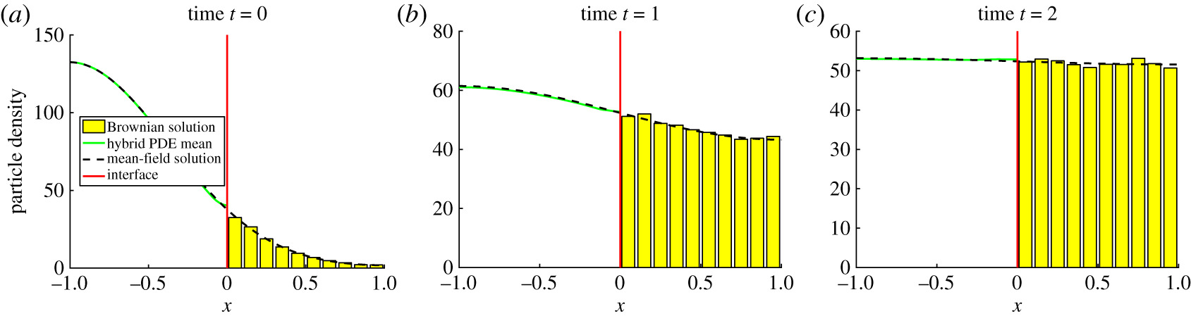 The auxiliary region method: a hybrid method for coupling PDE- and
