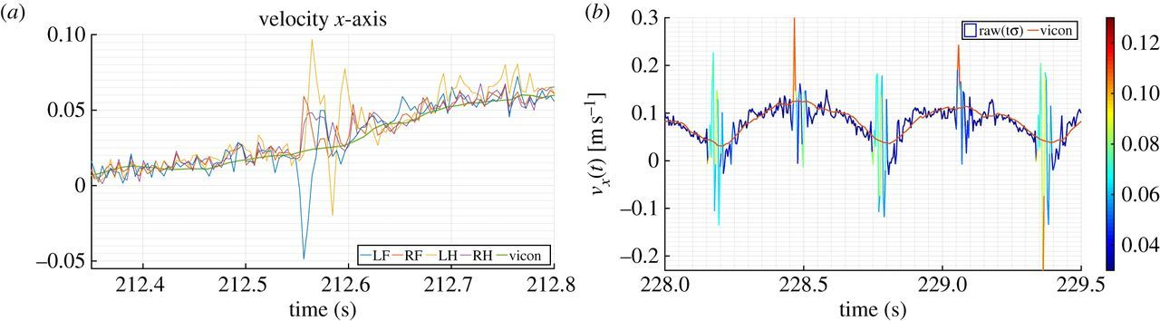 Accurate and robust localization for walking robots fusing