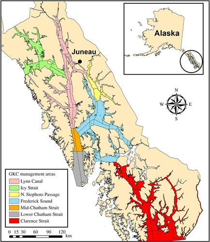 Spatial variability in size at maturity of golden king crab