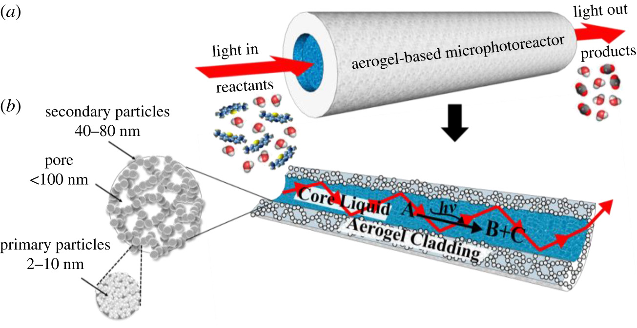 A new type of microphotoreactor with integrated optofluidic