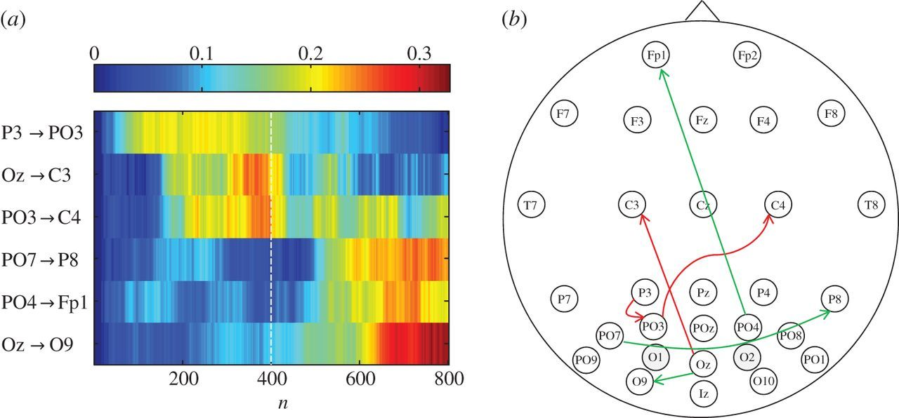 Time-variant partial directed coherence for analysing connectivity