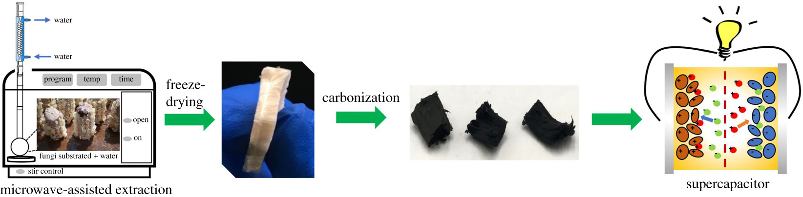 Novel biomass-derived smoke-like carbon as a supercapacitor