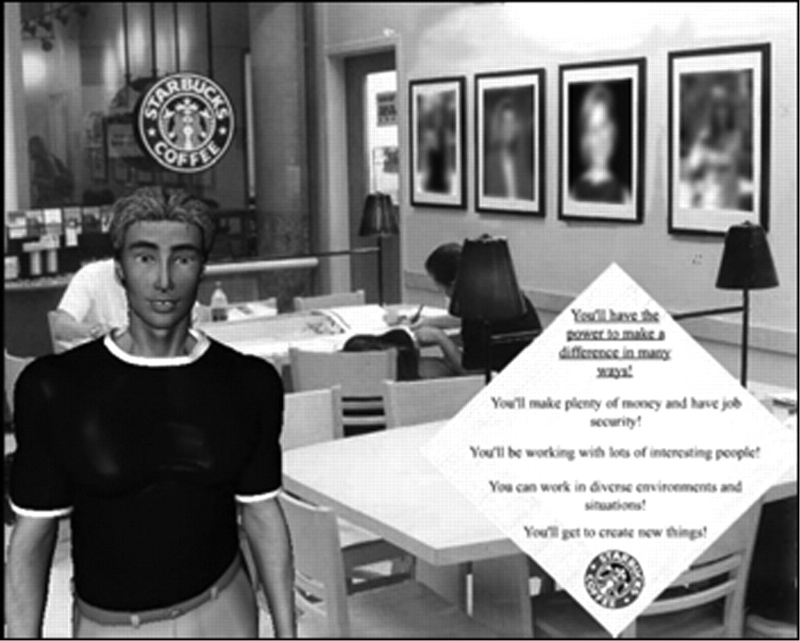 Promoting motivation with virtual agents and avatars: role of visual