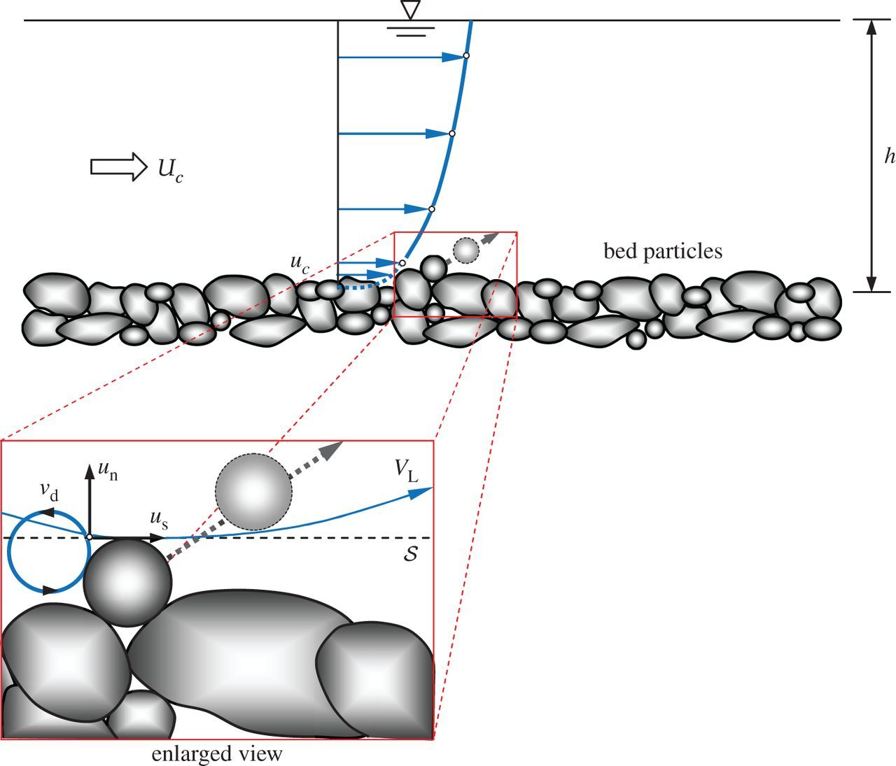 Origin of the scaling laws of sediment transport