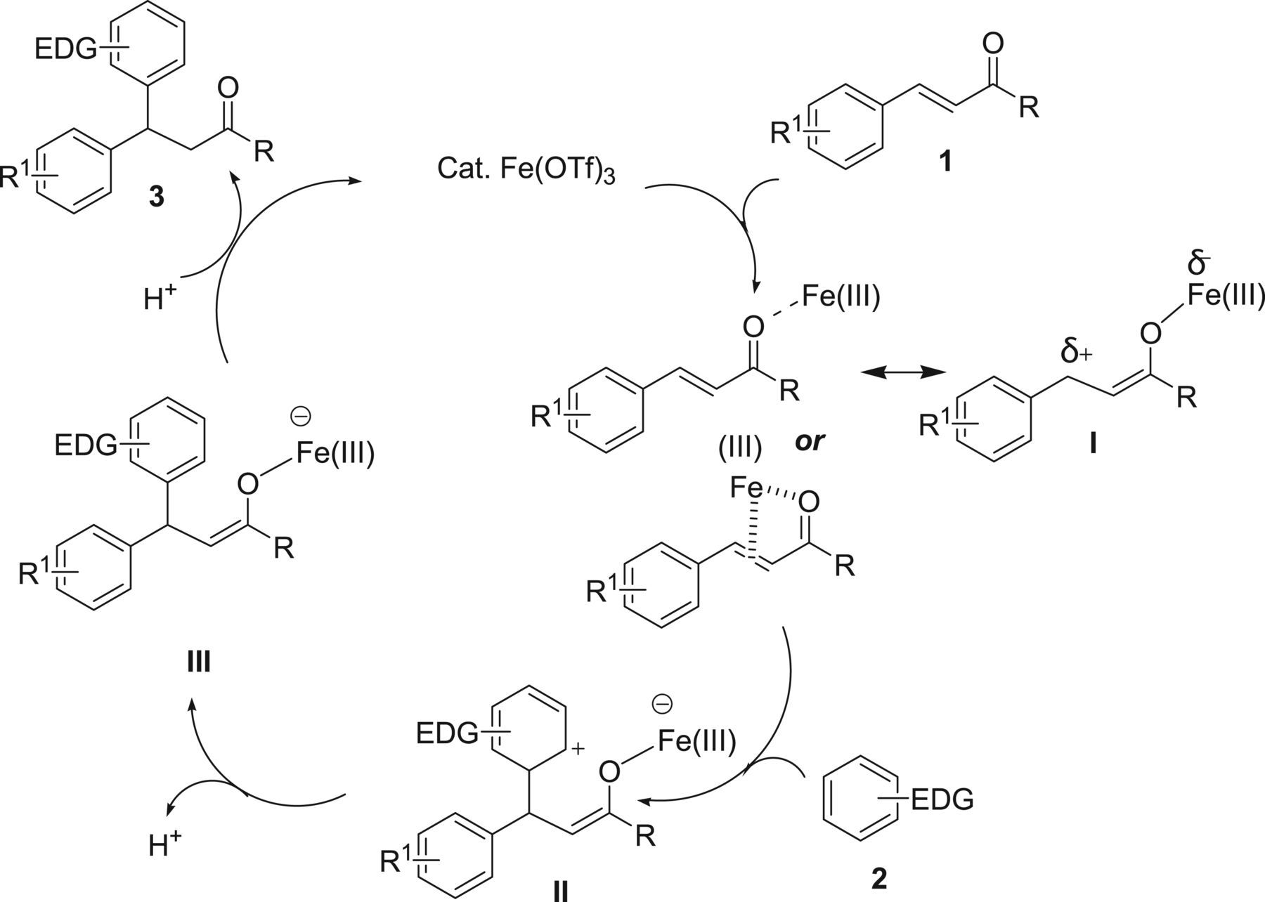 Fe(OTf)3-catalysed Friedel–Crafts reaction of benzenoid arenes with