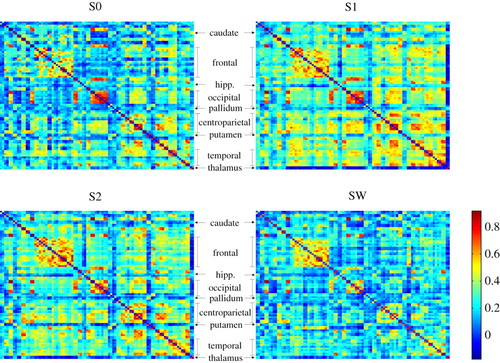 Large-scale functional brain networks in human non-rapid eye