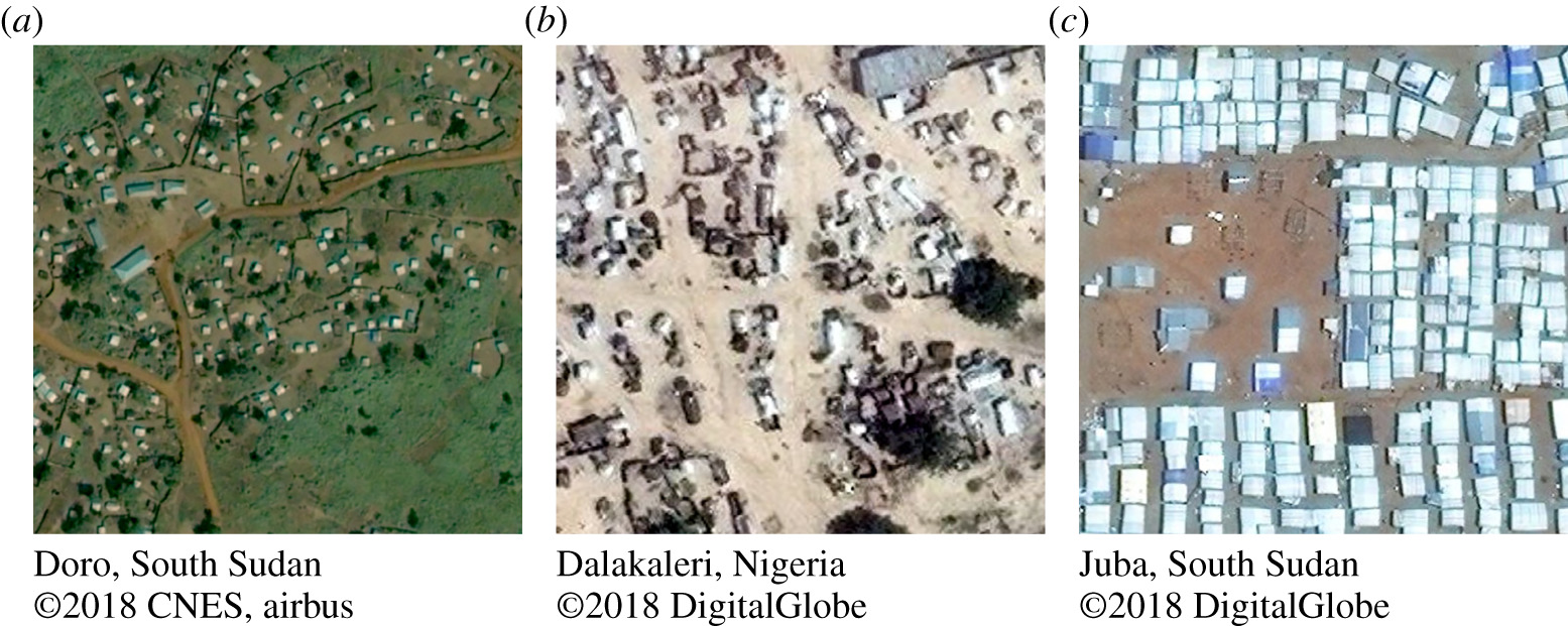 Humanitarian applications of machine learning with remote