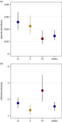 Intra- and intersexual differences in parasite resistance and female