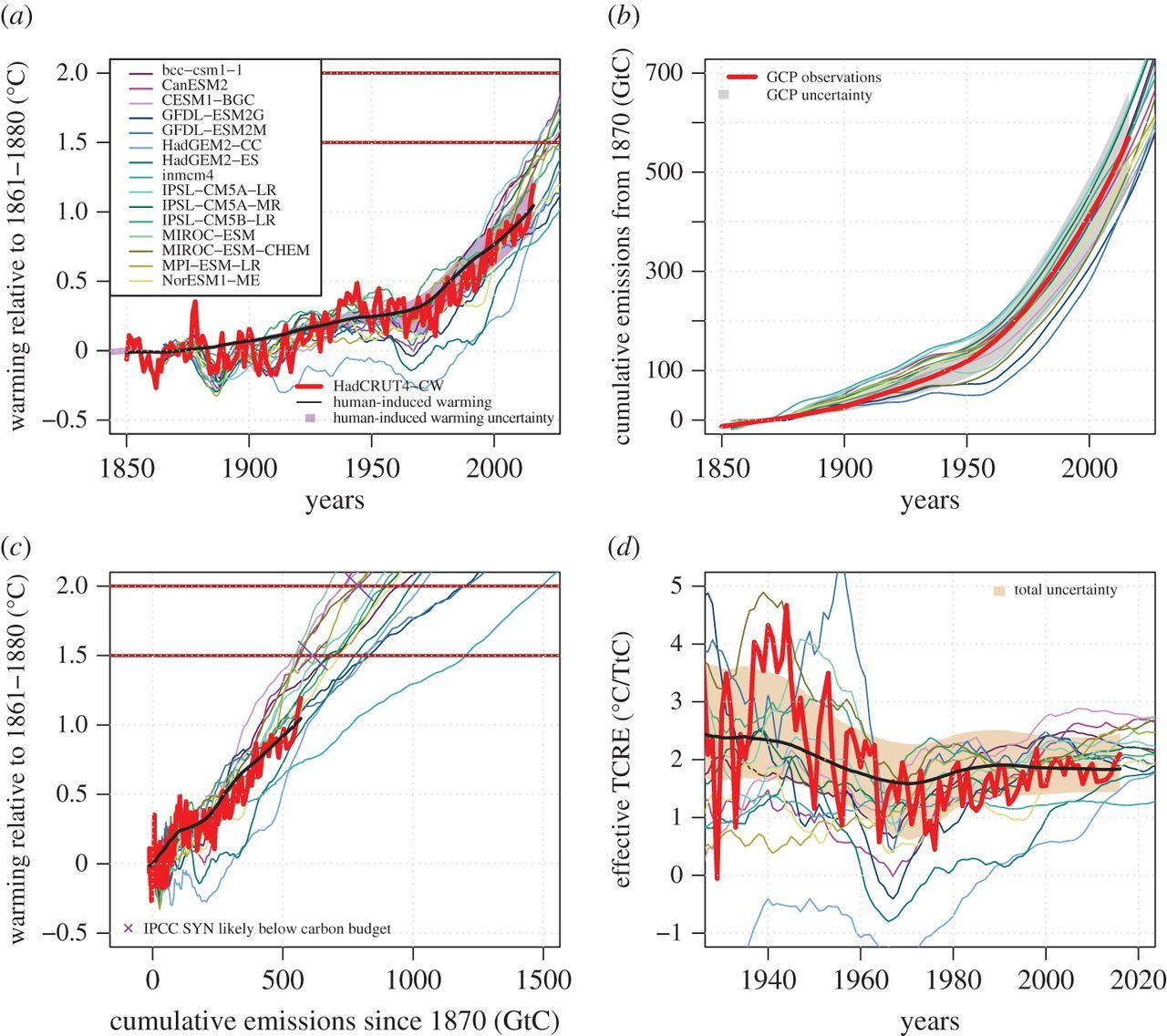 The utility of the historical record for assessing the transient
