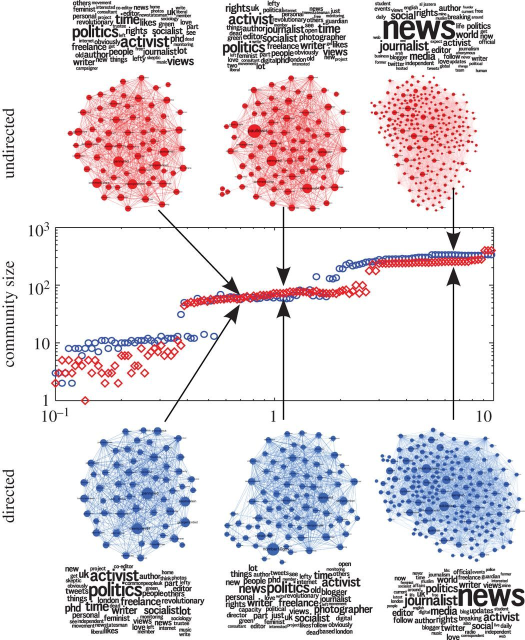 Interest communities and flow roles in directed networks: the